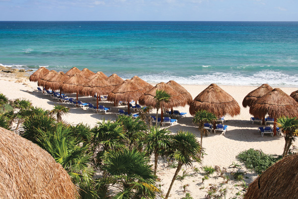 Valentin Maya resort sets amid acres of lavish gardens on a ½ mile stretch  of white sand beach. It boasts that it has the largest swimming pools and a  ...